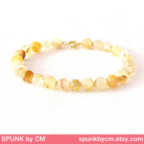 Gold,Gemstone,Bracelet,-,Quartz,Light,Yellow,Brown,,The,Stoned:,Speckled,Filigree,6mm,Round,Jewelry,gold_bracelet,black_friday,cyber_monday,spunkbycm,reiki_jewelry,minimalist_bracelet,gemstone_bracelet,beaded_bracelet,jewelry_for_teens,brown_gold_bracelet,brown_bracelet,earthtone_jewelry,quartz_bracelet,brass,gold plated,quartz