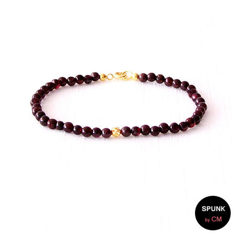 Gold,Gemstone,Bracelet,-,Garnet,Dark,Maroon,,The,Stoned:,Filigree,4mm,Round,Jewelry,gemstone_bracelet,minimalist_bracelet,reiki_jewelry,wedding_jewelry,jewelry_for_teens,gold_gemstone,gold_bracelet,garnet_gold_bracelet,garnet_bracelet,January_birthstone,simple_gold_jewelry,gold_boho_jewelry,spunkbycm_etsy,brass,gold plat