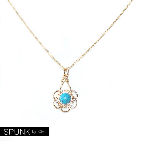 Minimalist,Gold,Chain,Necklace,-,Turquoise,,Filled,The,Basics:,Filigree,Flower,Jewelry,minimalist_necklace,wedding_jewelry,bridal_jewelry,gold_chain_necklace,boho_jewelry,simple_jewelry,everyday_necklace,turquoise_necklace,gemstone_necklace,turquoise_gold_charm,gold_flower_necklace,bridesmaid_necklace,toronto_jewelry,gold f