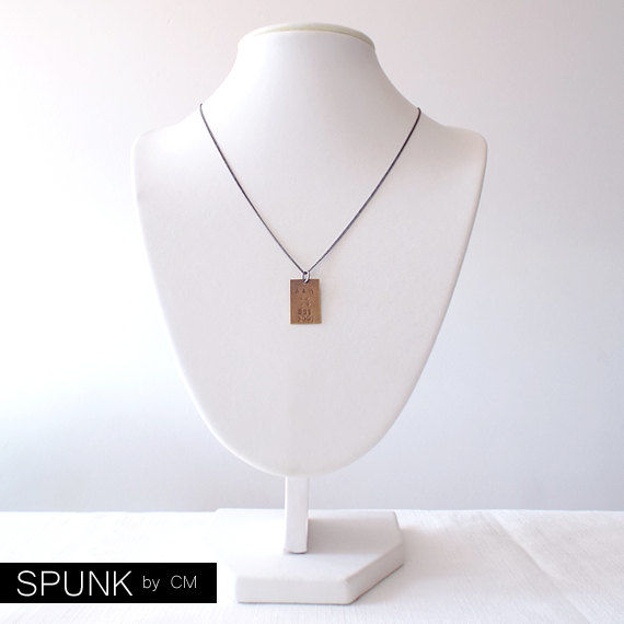 Brass Necklace, Handstamped Jewelry, Couple Necklace, Minimalist Necklace, Promise Jewelry, Monogram Necklace, Crossed Arrows - The Tagged - product images  of
