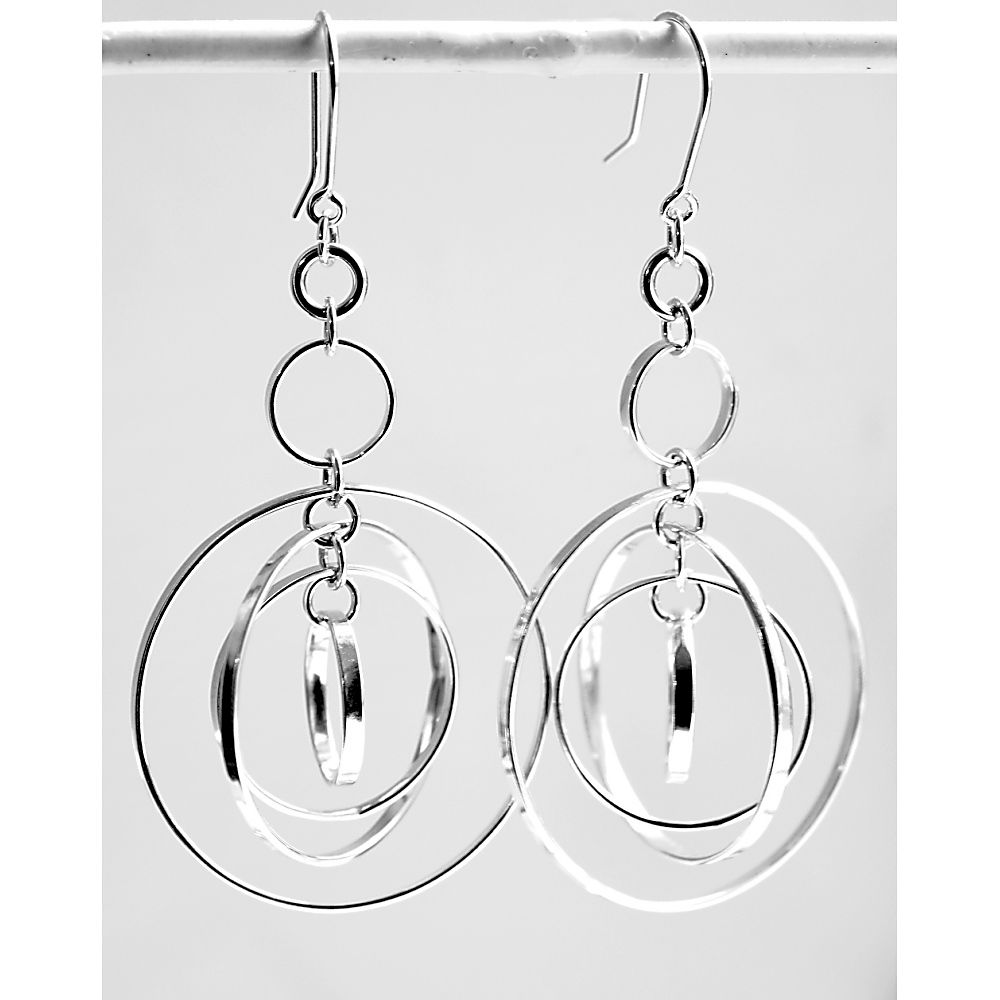 Handmade silver 'ball' earrings - product image