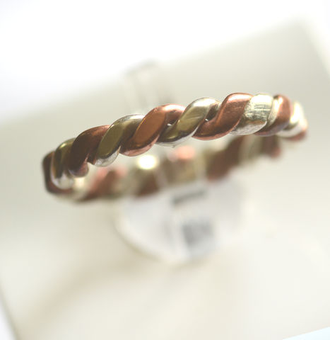 Handmade,silver,and,copper,twist,ring,silver ring, copper ring, twist, handmade, norbert abel, west cork crafts