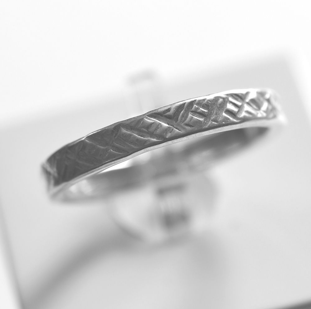 Handmade silver 'criss-cross' ring - product images  of