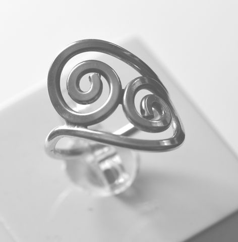Handmade,silver,'double-snail',ring,silver ring, double-snail, handmade, norbert abel, west cork crafts