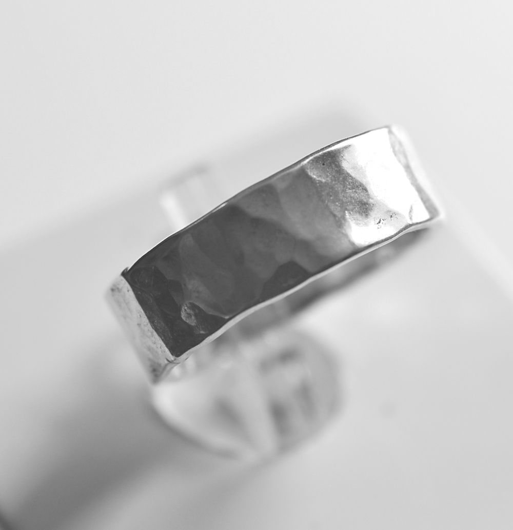 Handmade silver 'hammered' ring - product images  of