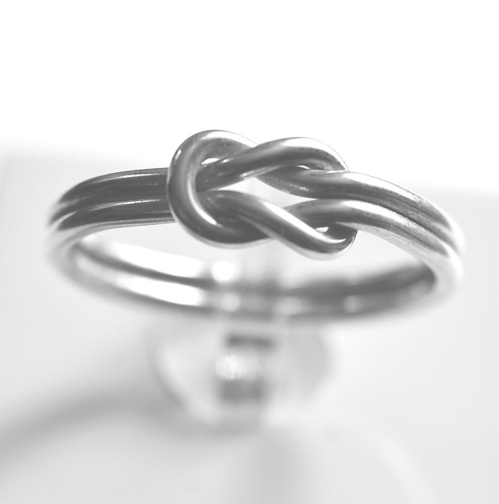 Handmade silver 'love knot' ring - product images  of