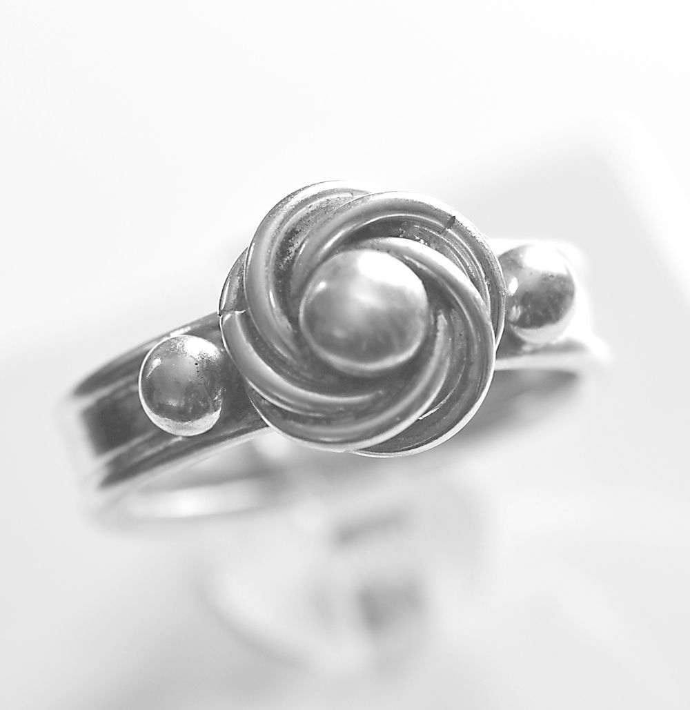 Handmade silver 'silver pearl' ring with wide band - product images  of