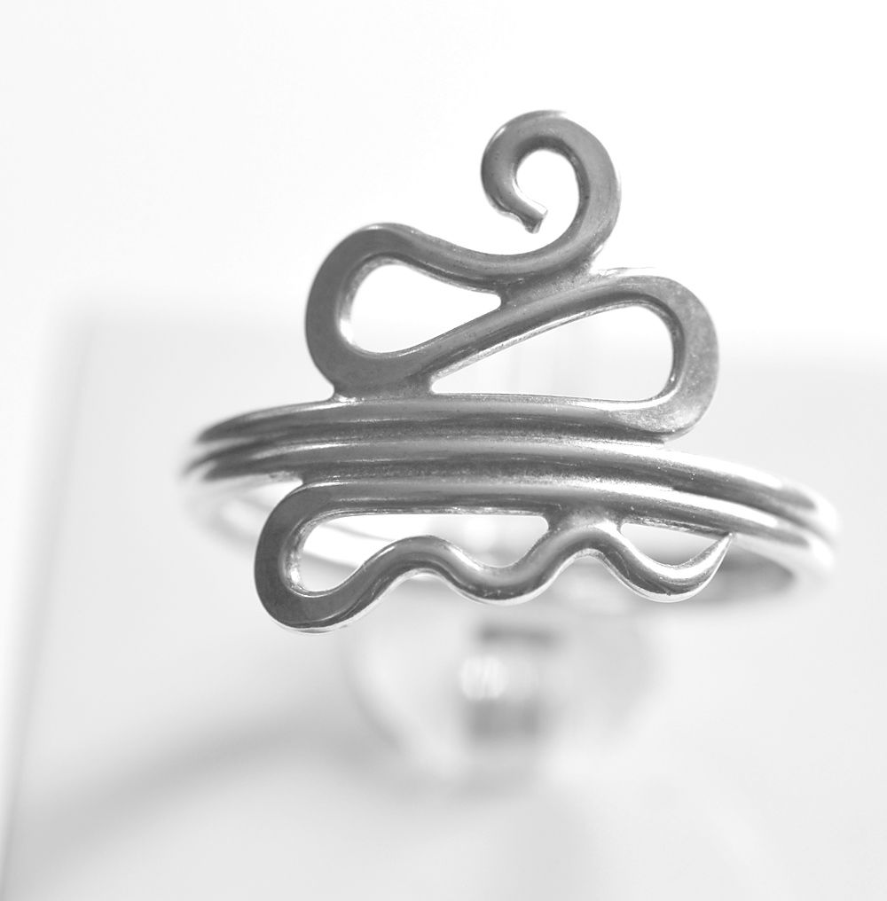 Handmade silver 'snake' ring - product images  of