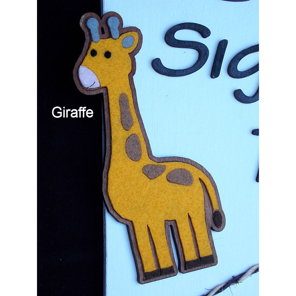Personalised kids bedroom door name-plaque - product images  of