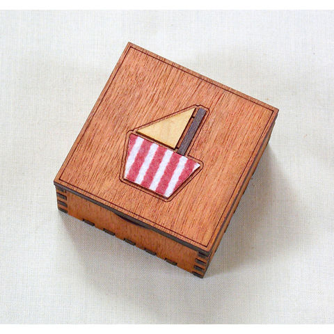 Small,boat,box,(stripey,felt),small boat box, stripey felt, rossbrin creative, west cork