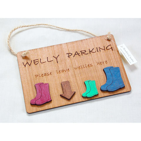 Welly,parking,plaque,welly parking plaque, rossbrin creative, west cork