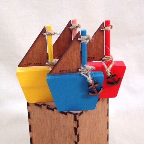 Personalised,Small,Wooden,Sail,Boat,wooden boat, rossbrin creative, west cork, personlised gift