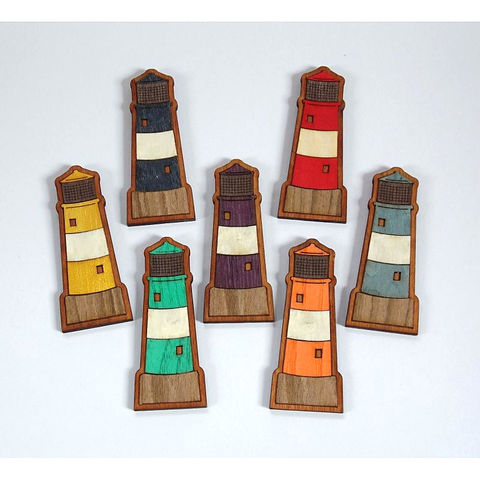 Lighthouse,Magnets, Fridge Magnet, wooden veneer, rossbrin creative, west cork