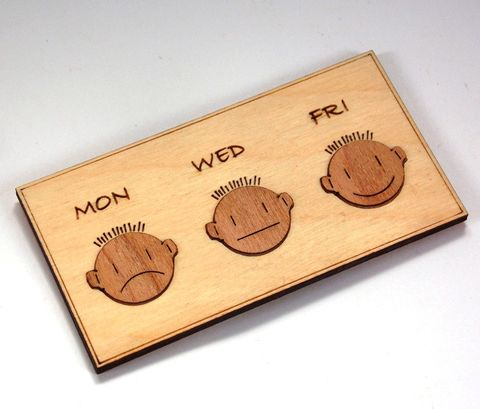 Mon/Wed/Fri,Magnets,Mon, Wed, Fri, Fridge Magnet, Wood Veneer, rossbrin creative, west cork