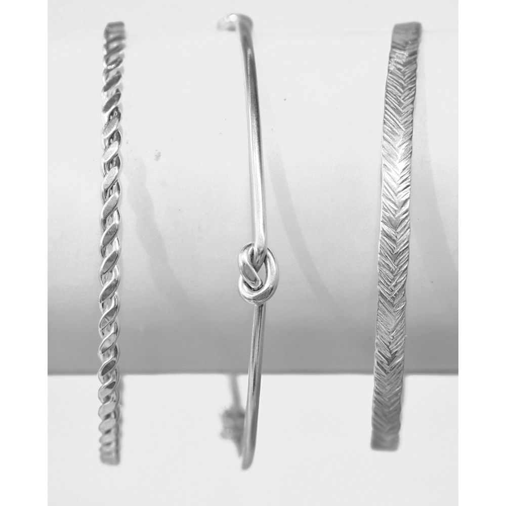 Handmade silver bangles - product image