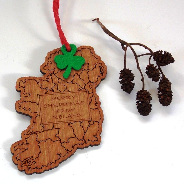 Map Tree Decoration (Merry Christmas from Ireland) - product images  of