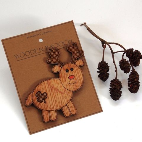 Reindeer,Badge/Brooch,Christmas, Reindeer, Brooch, Badge, rossbrin creative, west cork