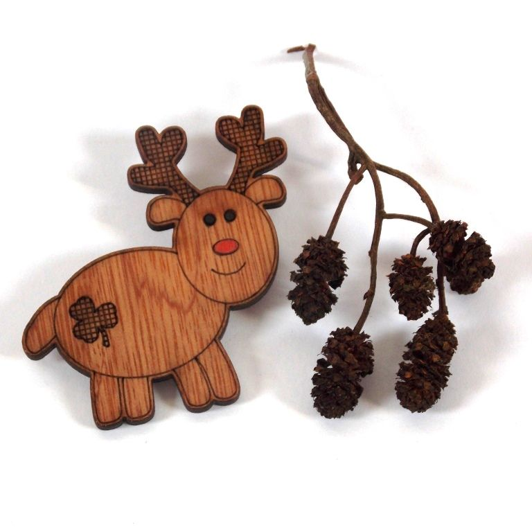 Reindeer Badge/Brooch - product images  of