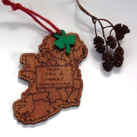 Map,Tree,Decoration,(Irish,You,a,Merry,Christmas),Christmas tree, Christmas Cork, Christmas decoration, rossbrin creative, west cork