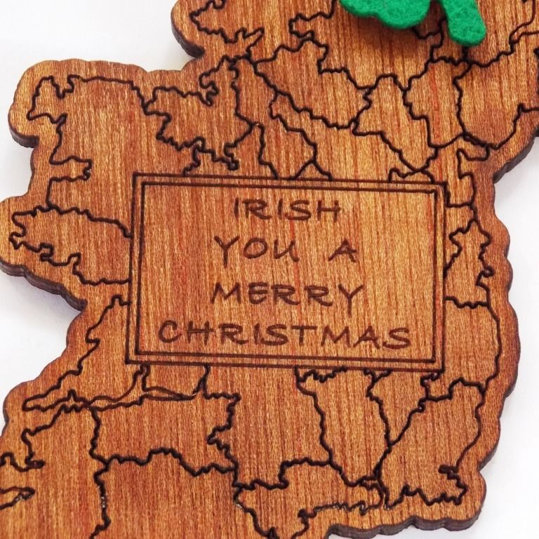 Map Tree Decoration (Irish You a Merry Christmas) - product images  of