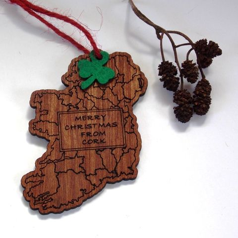 Map,Tree,Decoration,(Merry,Christmas,from,Cork),Christmas tree, Christmas Cork, Christmas decoration, rossbrin creative, west cork