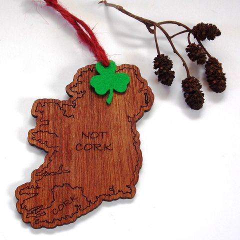 Cork/Not,Cork,Map,Tree,Decoration,Christmas tree, Not Cork, Christmas decoration, rossbrin creative, west cork