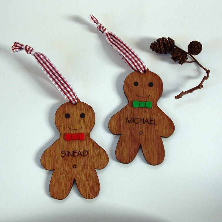 Personalised Gingerbread Tree Decorations - product images  of