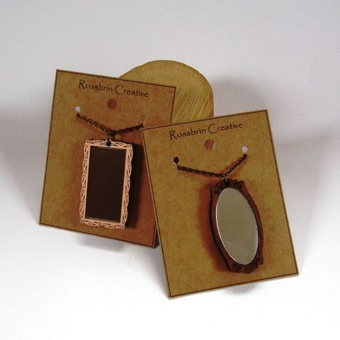 Mirror,Necklace,mirror necklace, wood, rossbrin creative, west cork