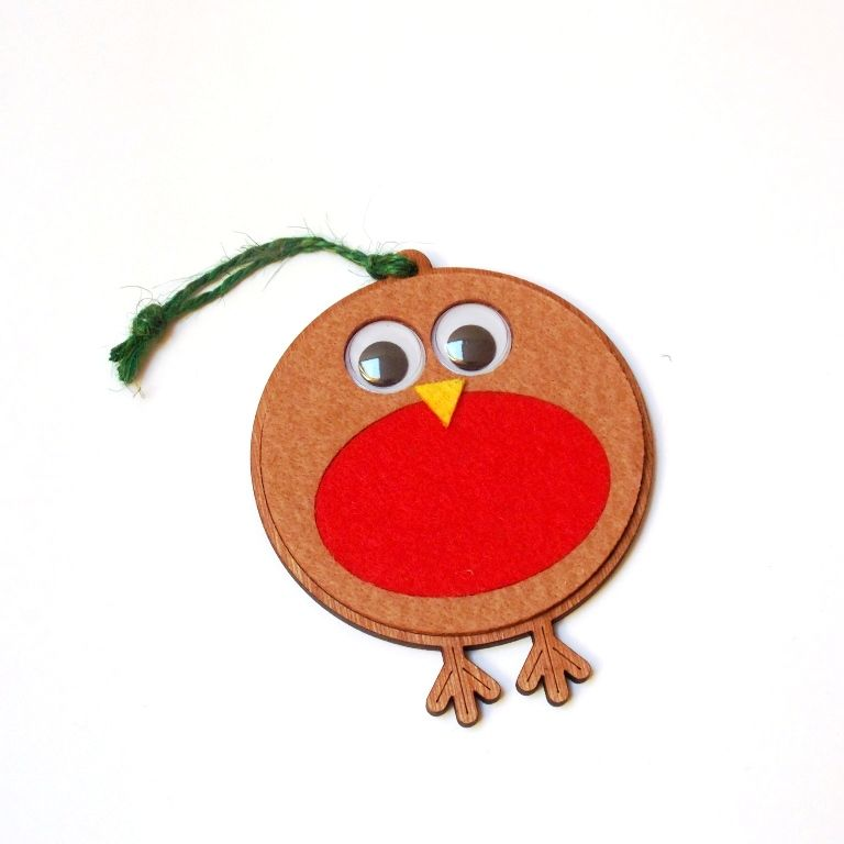 Robin Tree Decoration - Googley Eyes - product image