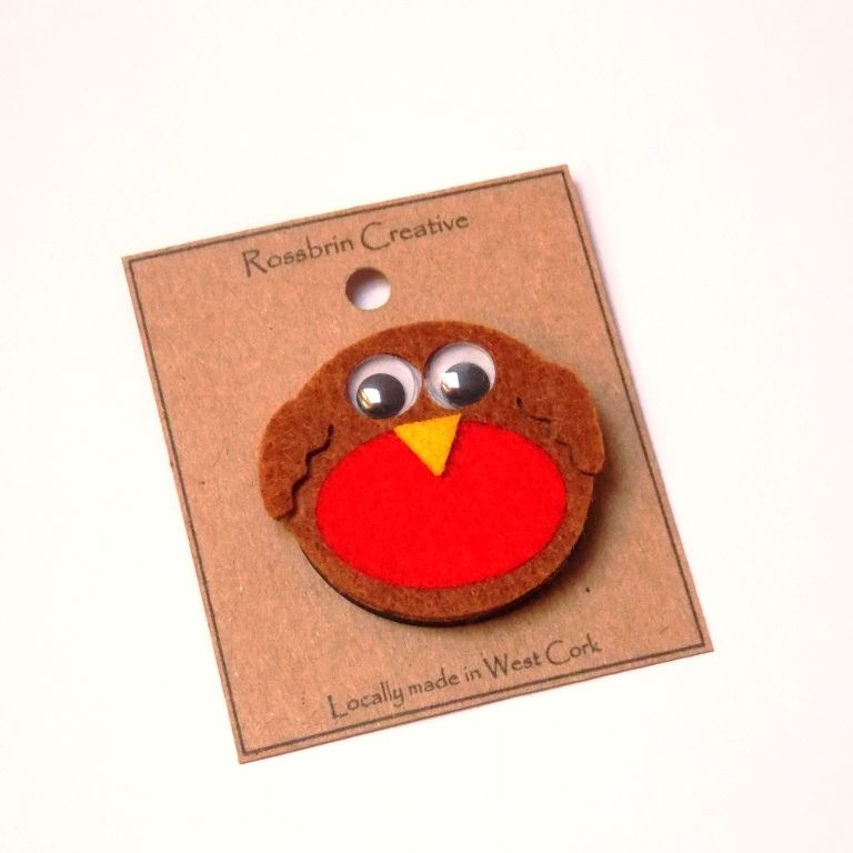 Robin Felt Badge/Brooch - product image