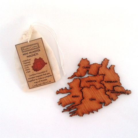 Munster,Magnets,Munster Magnets, Map Magnets, rossbrin creative, west cork
