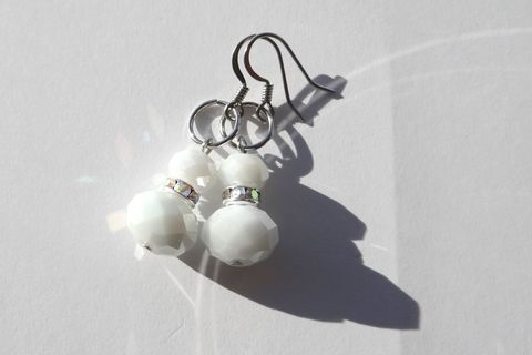 White Bridal Earrings - product images  of