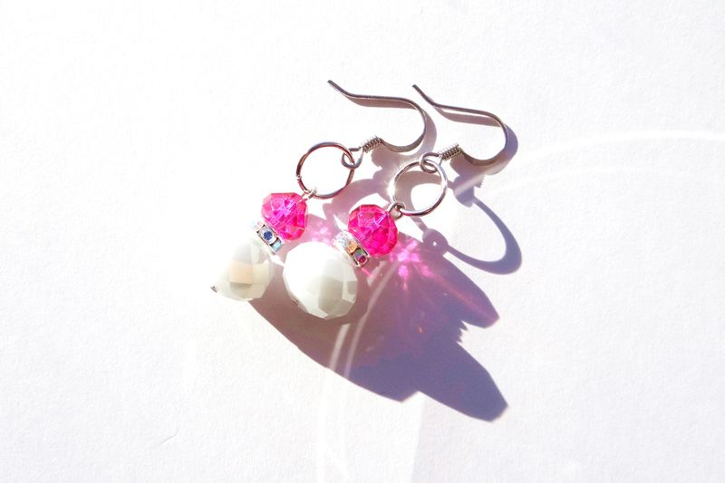 Pink and White Earrings - product images  of
