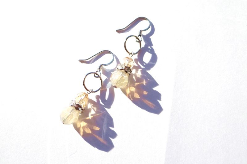 Light Brown Drop Earrings - product images  of