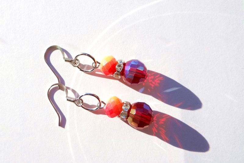 Red Dangle Earrings - product images  of