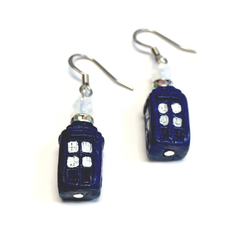 Tardis Doctor Who Earrings - product images  of