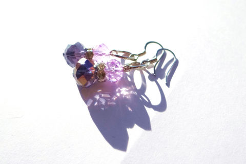 Purple Drop Earrings - product images  of