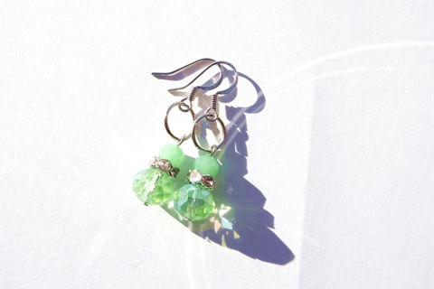 Green,Dangle,Earrings,Jewelry,Native_American,Wedding_Earrings,Simple_Earrings,Prom,homecoming,ndnchick,affordable,green,Dangle_Earrings,Drop_Earrings,Native_Earrings,Beaded_Earrings,jade_earrings,glass beads,surgical steel