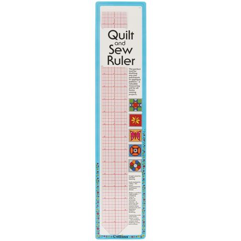 Collins,Quilt,&,Sew,Ruler,2x18,ruler, c-thru, sewing, drafting