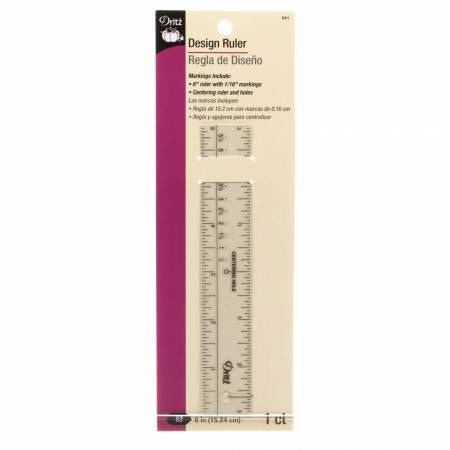 Dritz,6,Design,Ruler,dritz, ruler, drafting