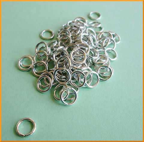 100,Aluminum,Open,Jump,Rings,16,Gauge,8mm,Lightweight,Shiny,Silver,Tone,Supplies, Findings, jump rings, jumprings, aluminum, silver, 8mm, open, round, 16 gauge, 16ga, shiny, silver-tone, chain maille, charms, findings