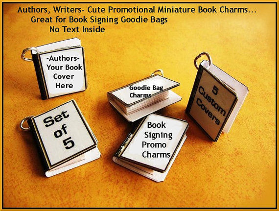 Reserved 5 Custom Miniature Book Pendant / Charms - product image
