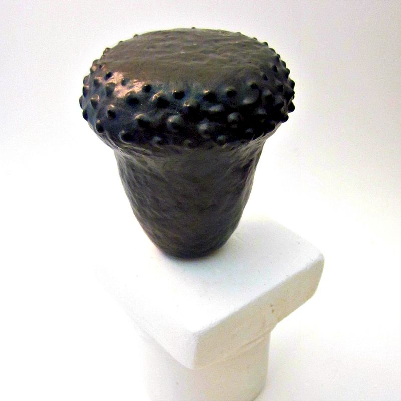 Handmade Dark Bronze Miniature Paper Mache Wet Vase, Recycled Decor: Sukoshi - product images  of