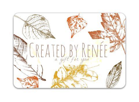 Leaves,Gift,Card,electronic gift card, gift certificate, gift certificate for art, gift certificate for handmade