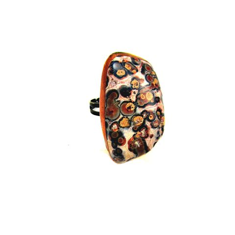 Giant,Adustable,Leopardskin,Jasper,Gemstone,Couture,Ring:,Beast,adjustable ring, big ring, chunky ring, brass ring, couture ring, giant ring, big jasper ring, leopard jasper ring, stone ring, cocktail ring, leopardskin jasper ring, bold ring, animal print stone ring