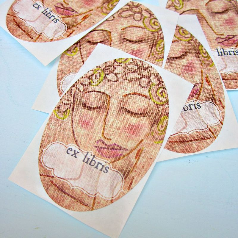 Art Bookplate ID Labels Featuring Original Digital Art: Flower Maiden - product images  of