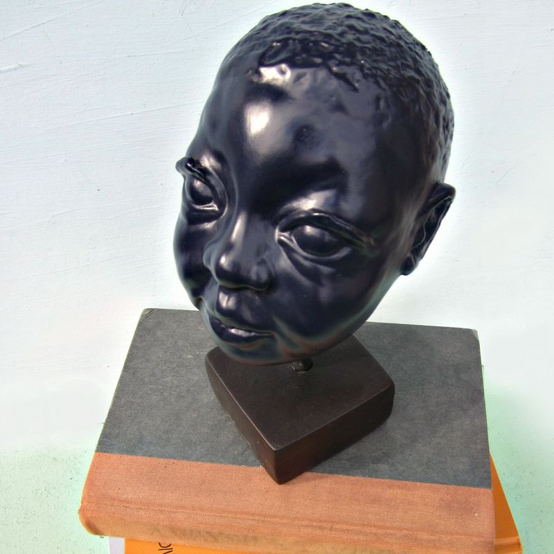 Handmade Paper Mache Child Bust Sculpture: Untitled - product images  of