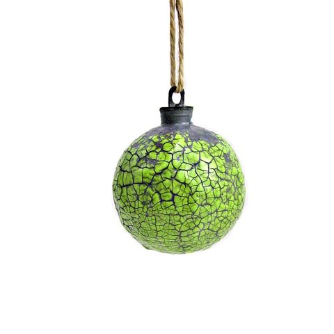 Handmade,Crackled,Light,Green,Paper,Mache,Ornament:,Citron,green ornament, papier mache, handmade paper mache accents, recycled home decor, paper mache Christmas tree ornament, recycled paper ornaments, recycled holiday decor accents, eco friendly Christmas decoration, crackled paper mache ornament