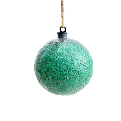 Handmade,Crackled,Turquoise,Green,Paper,Mache,Ornament:,Sage,turquoise ornament, papier mache, handmade paper mache accents, recycled home decor, paper mache Christmas tree ornament, recycled paper ornaments, recycled holiday decor accents, eco friendly Christmas decoration, crackled paper mache ornament