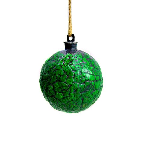Handmade,Crackled,Green,Paper,Mache,Ornament:,Mistletoe,turquoise ornament, papier mache, handmade paper mache accents, recycled home decor, paper mache Christmas tree ornament, recycled paper ornaments, recycled holiday decor accents, eco friendly Christmas decoration, crackled paper mache ornament